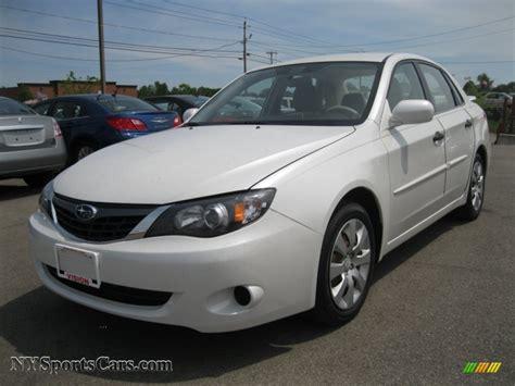 subaru sedan white 2008 subaru impreza 2 5i sedan in satin white pearl