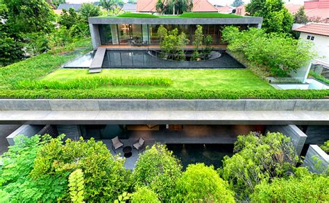 garden houses designs home with underground courtyard and rooftop gardens
