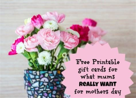 Mothers Day Gift Cards - 11 mother s day gift ideas free printable gift cards for mums on mothers day for what