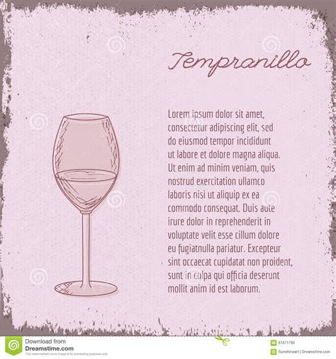 vector template with wine glass stock