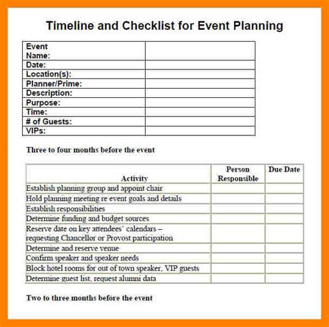 Event Planning Checklist Template Excel by 4 Event Planning Checklist Excel Packaging Clerks