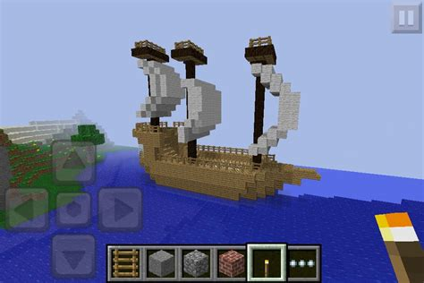 how to build a boat in minecraft pe boat i built in minecraft pe randum pinterest