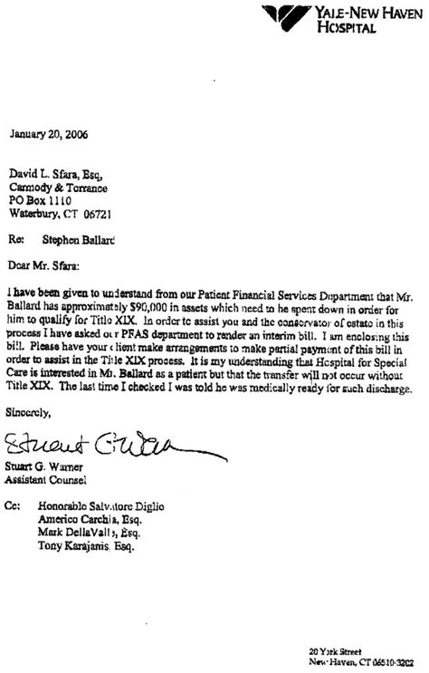 Patient Billing Letter Gwyn Ballard Victim Of The Yale And Machine
