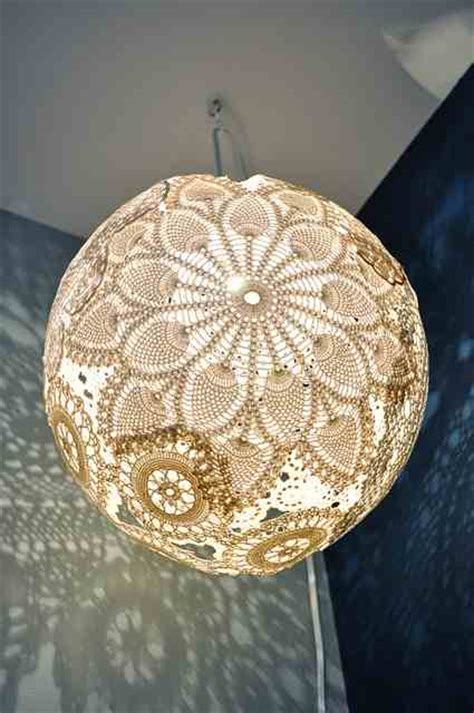 Doily Chandelier Beautiful Diy Lshades Strawbridge