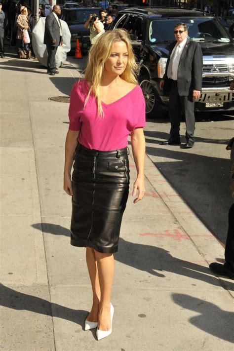 kate hudson in black leather mini skirt 34 gotceleb