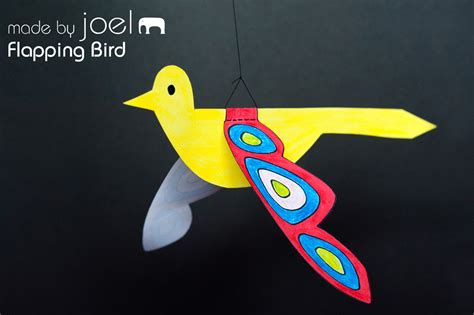 paper bird crafts made by joel 187 flapping paper bird