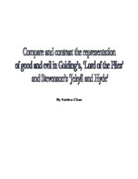 good vs evil theme in lord of the flies homework help line buy custom written essays with the
