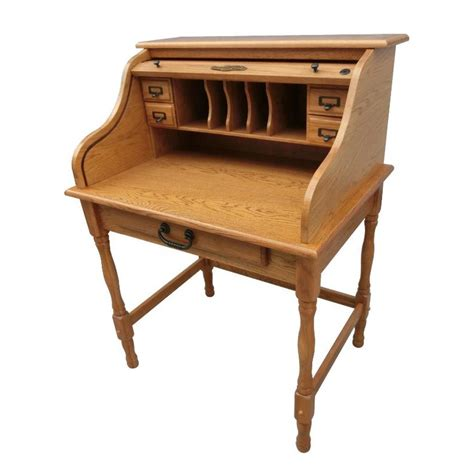 roll top secretary desk harvest 32 quot mini roll top desk cedar hill furniture