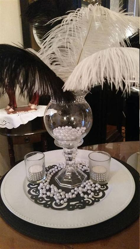 black and white ostrich feather centerpieces 25 best ideas about ostrich feather centerpieces on masquerade centerpieces