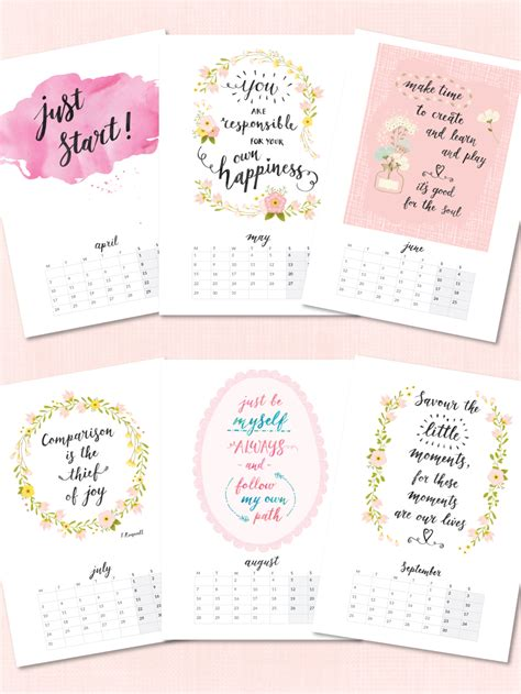 printable calendar quotes printable 2017 calendars now in my etsy shop beautiful