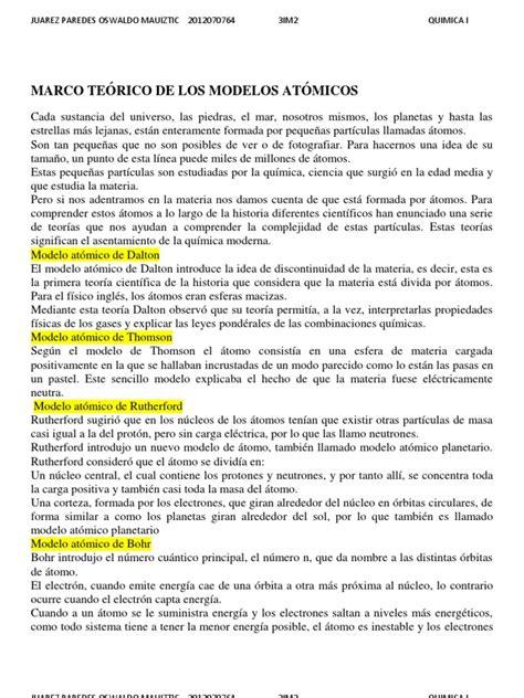 Modelo Teorico Curricular De Marco Te 211 De Los Modelos At 211 Micos