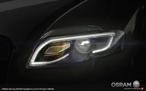 audi headlights in oe audi supplier osram launches b7 a4 ledriving xenarc