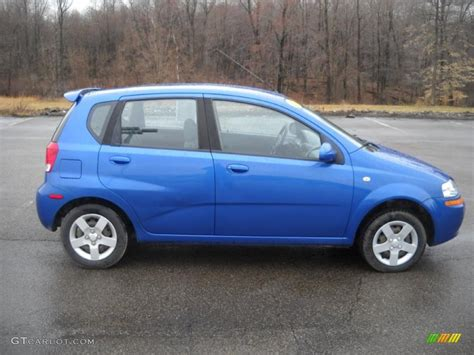 2005 bright blue metallic chevrolet aveo ls hatchback 27499362 gtcarlot car color galleries