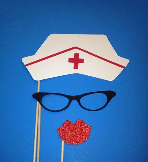 printable nurse photo booth props photo booth props nurse hat photo booth 3 piece set on