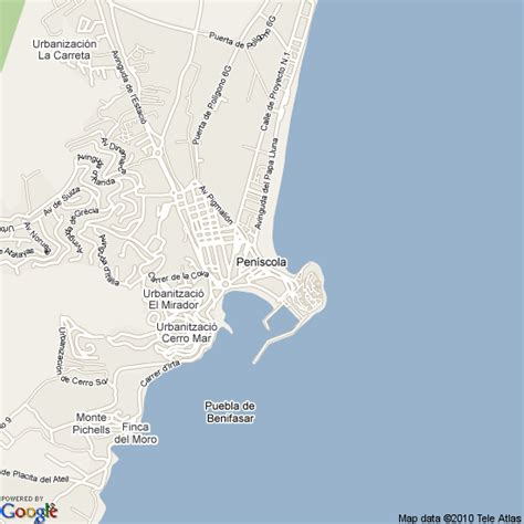 map  peniscola spain hotels accommodation