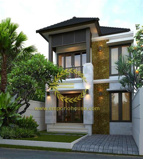 desain rumah dua lantai desain rumah 2 lantai 3 kamar lebar tanah 7 meter dengan