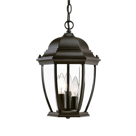 Home Depot Outside Light Fixtures Acclaim Lighting Wexford Collection Hanging Lantern 3 Light Outdoor Matte Black Light Fixture