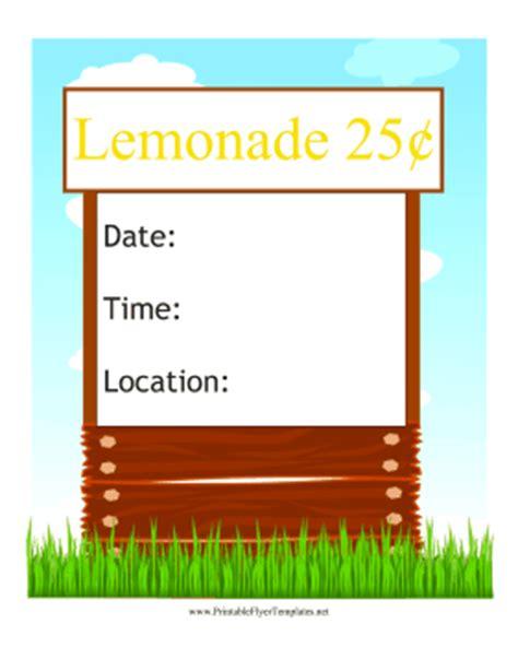 lemonade stand business plan template lemonade stand flyer
