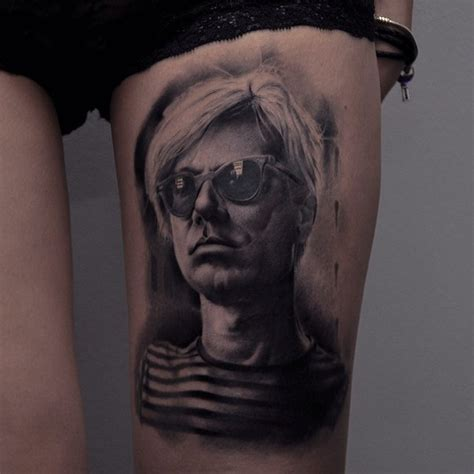 andy warhol tattoo photoreal andy warhol portrait favorite tattoos