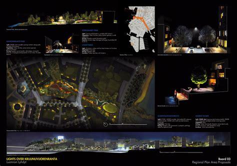 lighting layout presentation west 8 wins 1st prize lighting master plan helsinki