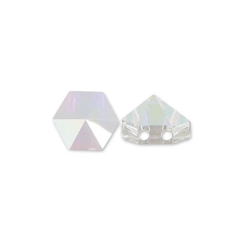 Swarovski Austria Ab 5 Mm hexagon spike bead swarovski 5060 two holes 7 5 mm ab x1 perles co