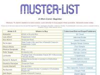 Muster List Muster List Muster List The Mini Comics Register