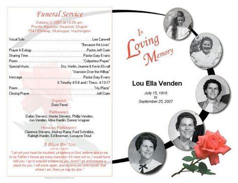Funeral Bulletin Sles Google Search Grandpa Pinterest Program Template Design And Google Funeral Bulletin Template