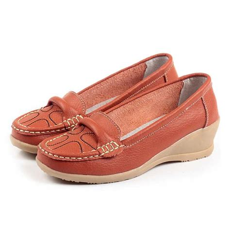 best womens comfort shoes aliexpress com buy genuine leather comfortable loafers