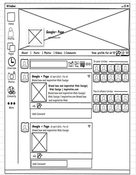 wireframe profiles 9 best images about wireframes of social networks on