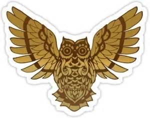 wing barn menu owl speading it s wings sticker