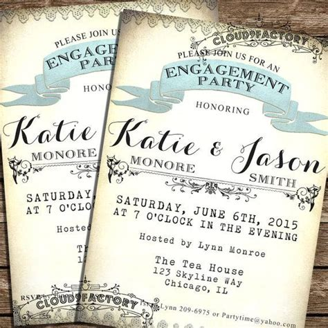 invitation printable engagement party invitation