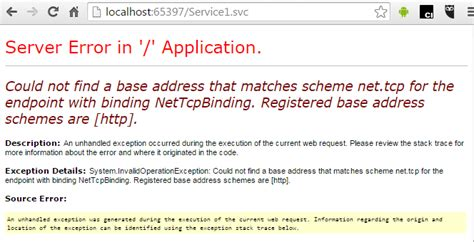 Could Not Find Address For Hosting Wcf Service In Was Simplified Codeproject