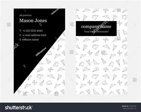 2x3 5 business card template white pink doublesided business card template stock vector