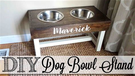 remodelaholic diy dog food bowl stand for small pups diy dog bowl stand youtube
