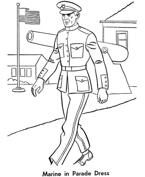 marine coloring pages print picture marine corps rank
