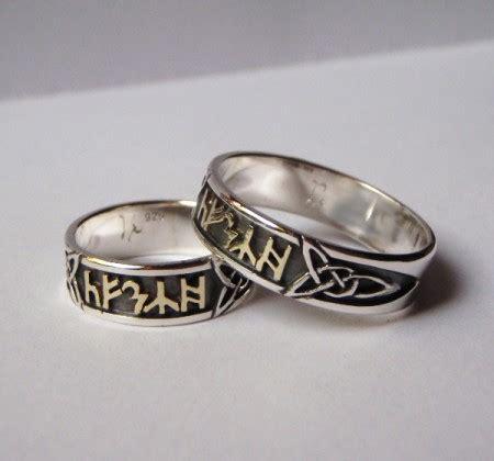 Eheringe Silber Gold by Ringe Aus Silber Mit Runen Aus 585er Gelbgold