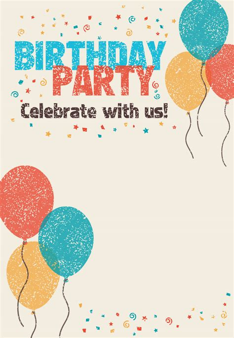 Birthday Invitation Card Template by Free Printable Celebrate With Us Invitation Great Site