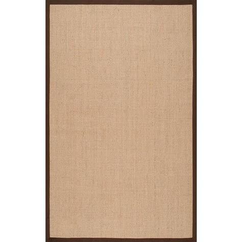 brown sisal rug nuloom orsay sisal brown 6 ft x 9 ft area rug zhss01e 609 the home depot