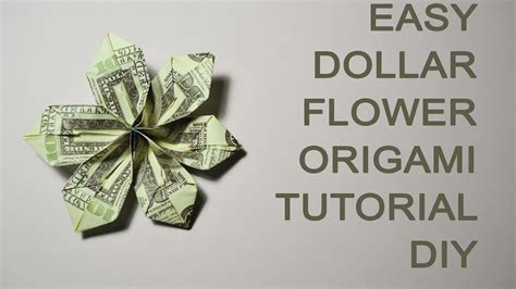 Money Origami Tutorial - easy dollar money flower origami tutorial diy bills gift