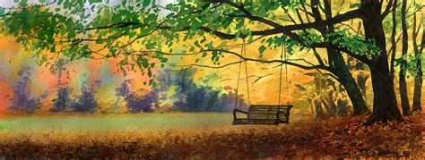 tree swing painting a tree swing by sergey zhiboedov