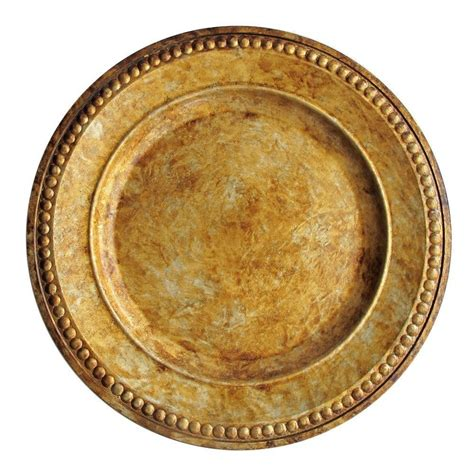 gold charger plates for 1 import 1320375 chargeit by beaded antique gold 14