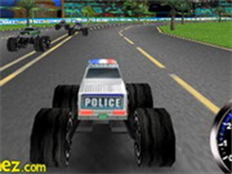 3d police monster truck car games free car racing games