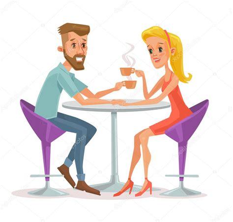 imagenes animadas tomando cafe pareja sentada en la cafeter 237 a y tomando caf 233 ilustraci 243 n