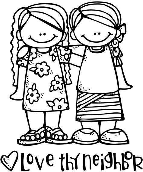 free coloring pages of love your neighbour