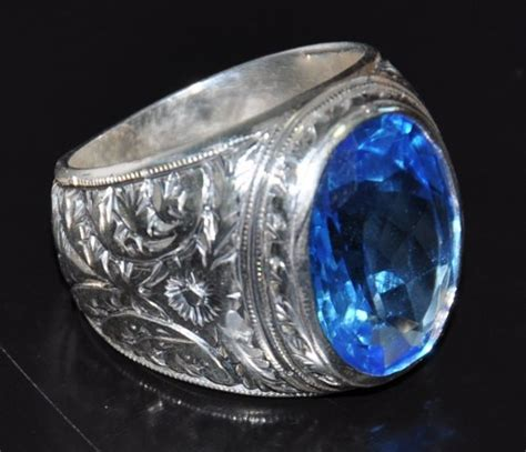 sterling silver 925 ring aquamarine silverformen jewelry on artfire