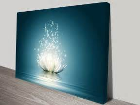 lotus flower moonlight wall canvas canvas prints