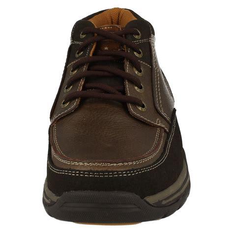 mens skecher boots mens skechers leather relaxed fit memory foam walking