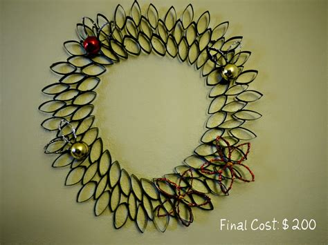 Toilet Paper Roll Wreath Craft - inexpensive craft toilet paper roll wreath cost
