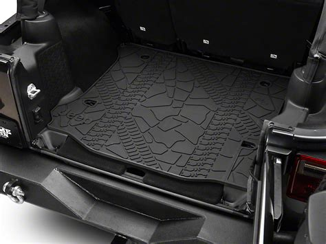cargo mat for jeep wrangler unlimited with subwoofer mopar jeep wrangler cargo liner w o subwoofer cutout
