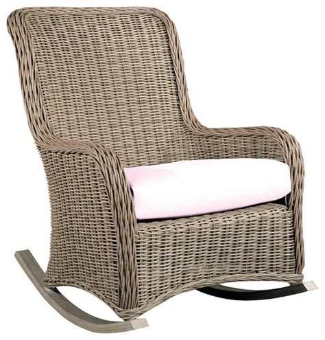 All Weather Wicker Rocking Chairs hauser coastal all weather wicker rocking chair with